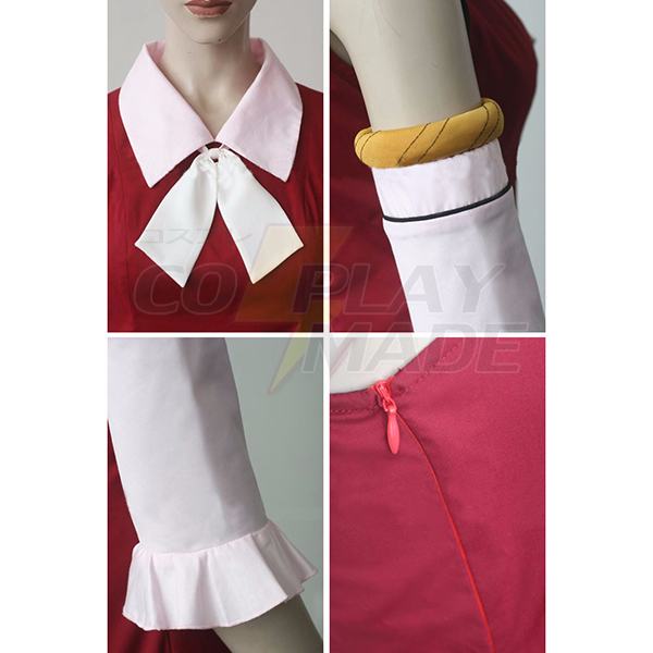 Disfraces Fairy Tail Youth Lisanna Strauss Rojo Vestido Cosplay