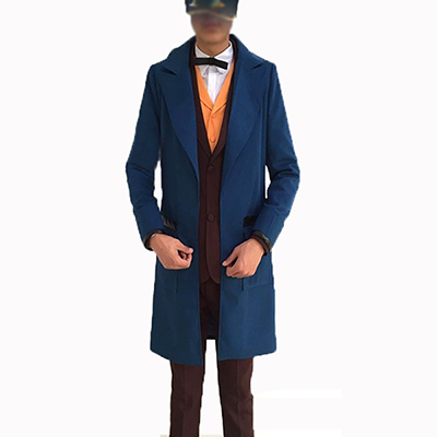 Costumi Fantastic Beasts and Where to Find Them Eddie Newt Scamander Cosplay