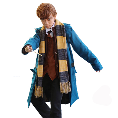 Costumi Fantastic Beasts and Where to Find Them Newt Scamande Trench Cosplay Abito