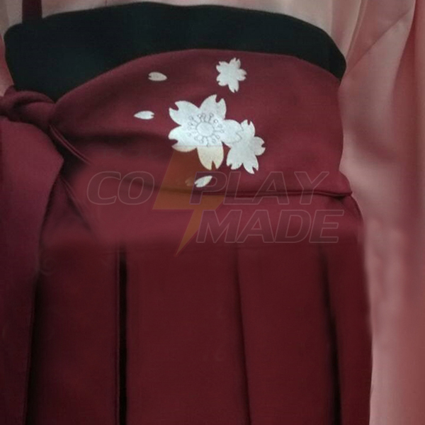 Fate Grand Order Saber Sakura Cosplay Costume With Sleevs and Bow