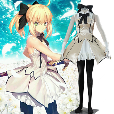 Fate Zero Fate Stay Night Altria Pendragon Cosplay Kostym