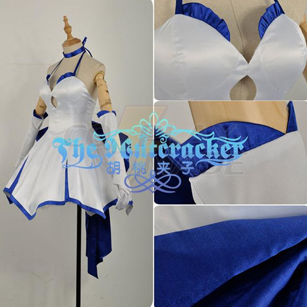 Fate Zero Saber Dress Cosplay Costume Stage Performence Clothes