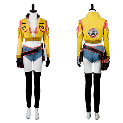 Final Fantasy FF15 Cindy Aurum Gas Jacket Cosplay Costume Uniform