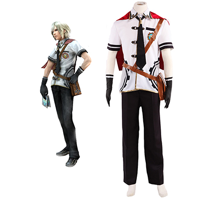Fantasias de Final Fantasy Type-0 Suzaku Peristylium Class Zero Machina Cosplay