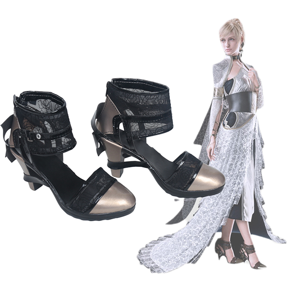 Final Fantasy XV Kingsglaive Lunafreya nox fleuret Cosplay Schoenen Sandalen Custom