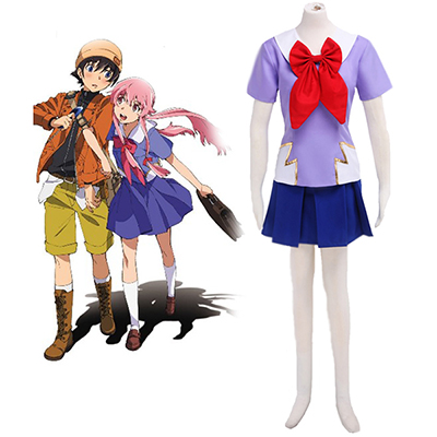 The Future Diary Gasai Yuno Skoluniform Cosplay Kostym