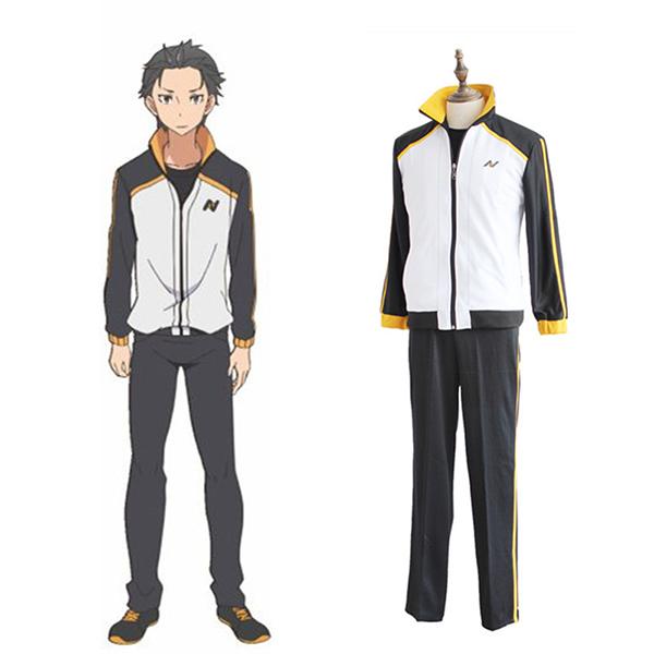 Re Zero Re: Life in a Different World From Zero Subaru Natsuki Cosplay Costume