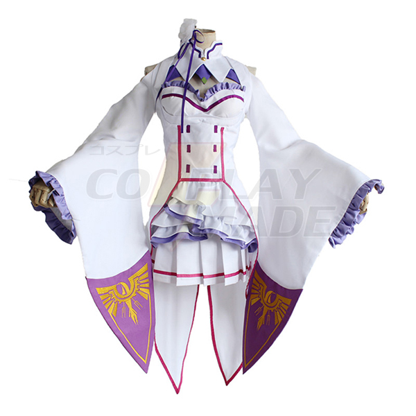 Japanese Anime Re: Life in a Different World From Zero Emilia Cosplay Costume