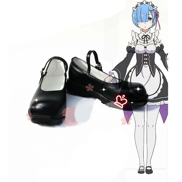 Re: Life In A Different World From Zero Ram Rem Cosplay Shoes Boots