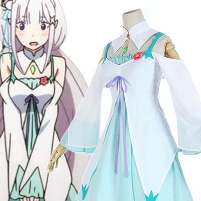 Re: Zero Life in a Different World from Zero Rem∕Ram Blue Cosplay Costume