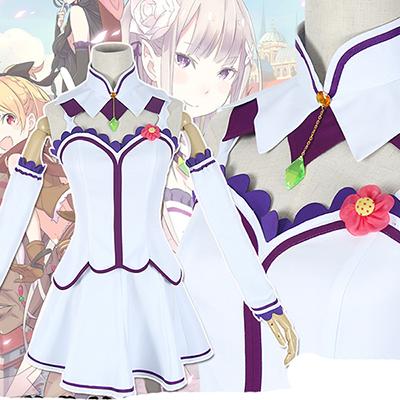 Re: Zero Life in a Different World from Zero Anime Emilia Cosplay Costume