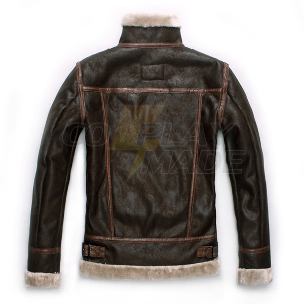 Resident Evil 4 Leon Leather Jacket with Leon Faux Fur Jacket ∕ Coat Cosplay