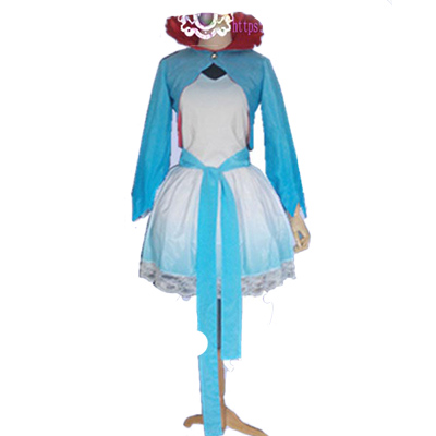 Anime RWBY White Weiss Schnee Cosplay Costume Printting Dress