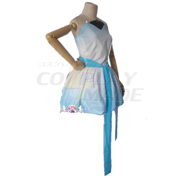 Anime RWBY White Weiss Schnee Cosplay Costume Printting Dress