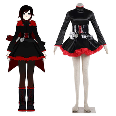 RWBY Ruby Rose Uniform Cosplay Costume Halloween