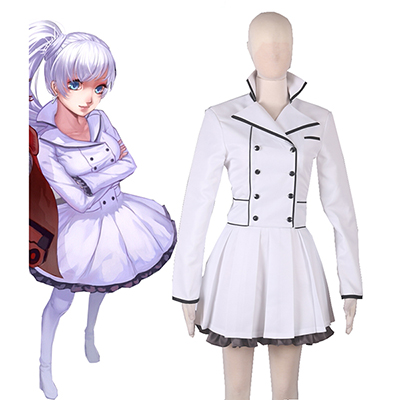 RWBY Season 2 White Weiss Schnee Lolita Dress Cosplay Costume
