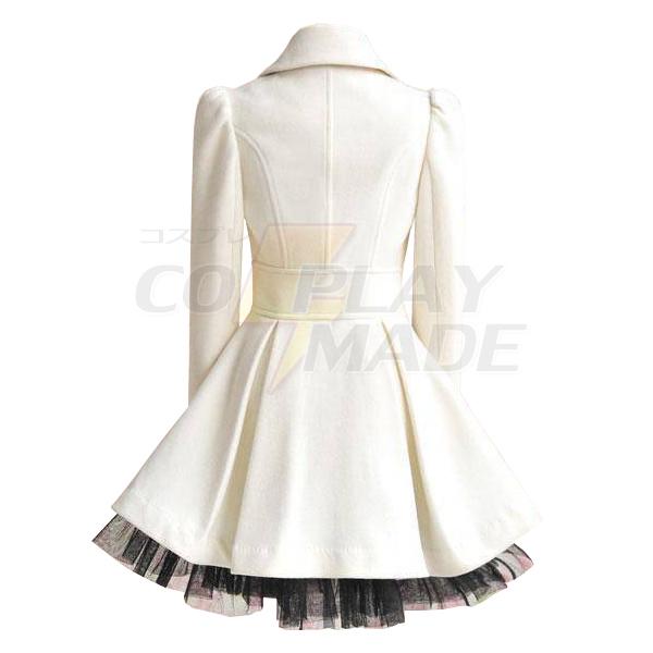 RWBY Weiss Schnee Cosplay Costume Female White Coat