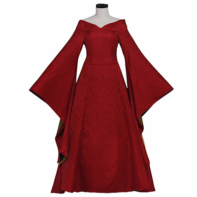 Game of Thrones Cersei Lannister Cosplay Kostyme Rød Kjole