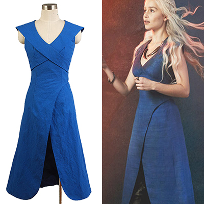Game of Thrones Daenerys Targaryen Cosplay Kostyme Halloween Karneval