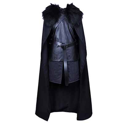 Costumi Gioco of Thrones Jon Snow Knights Watch Cosplay Carnevale