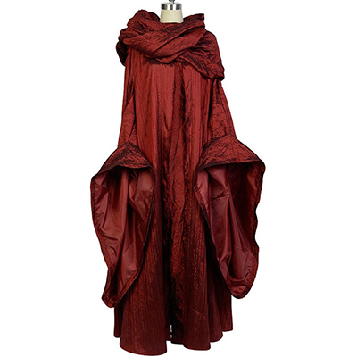 Spel of Thrones The Rood Woman Melisandre Cosplay Kostuum