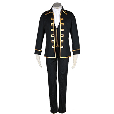 Gintama Shinsengumi Captain Uniform Cosplay Kostym Halloween