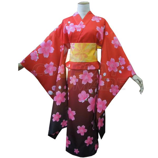 Disfraces Gintama Kagura kimono Cosplay