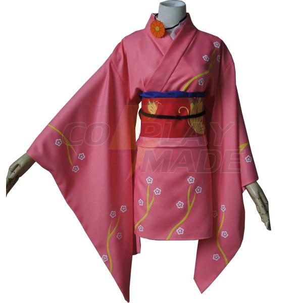 Gintama Kyuubei Yagyuu Kimono Cosplay Costume