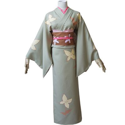 Gintama Okita Mitsuba Kimono Cosplay Kostym