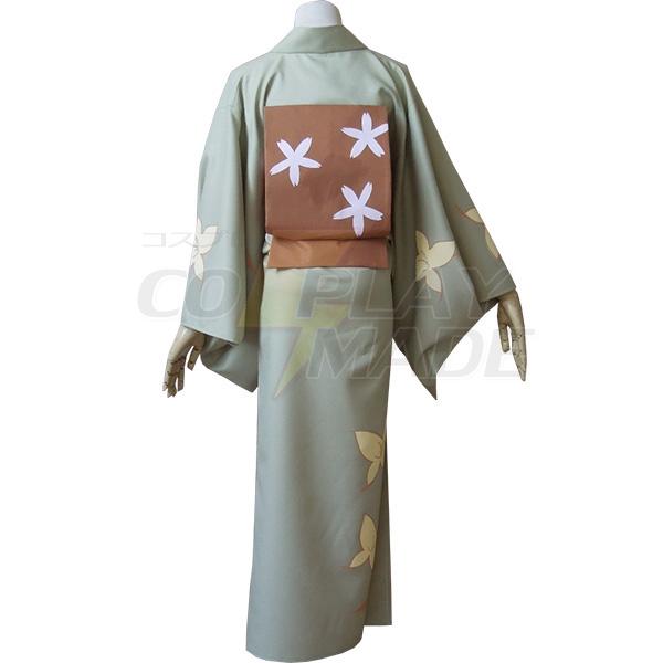 Gintama Okita Mitsuba Kimono Cosplay Costume