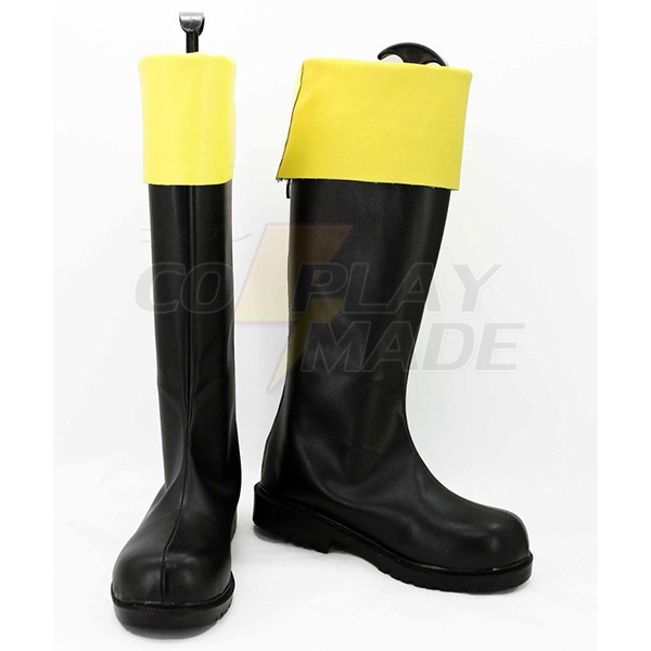 Gintama Okita Sougo Female Cosplay Boots Custom Made Shoes