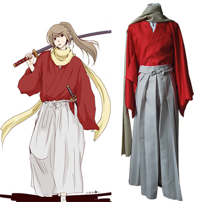 Gintama Sougo Okita Kimono Cosplay Kostym