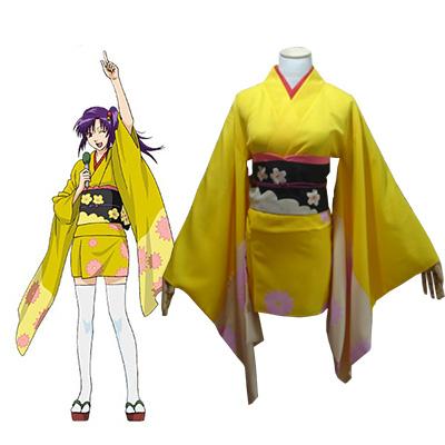 Gintama Tsu Terakado Kimono Costume Cosplay