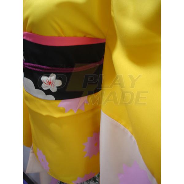 Gintama Tsu Terakado Kimono Kostüme Cosplay Kostüme