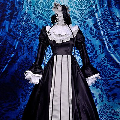 Gosick Victorique De Blois Black Lolita Dress Cosplay Costume