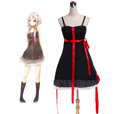 Disfraces Guilty Crown Yuzuriha Inori Negro Vestido Cosplay