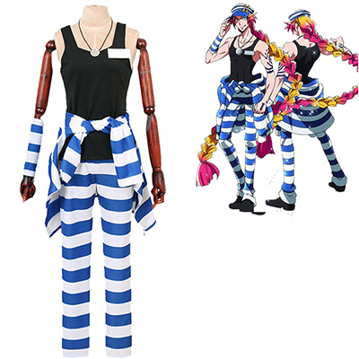 Fantasias de Nanbaka NO.11 Uno Jail Uniforme Cosplay Anime