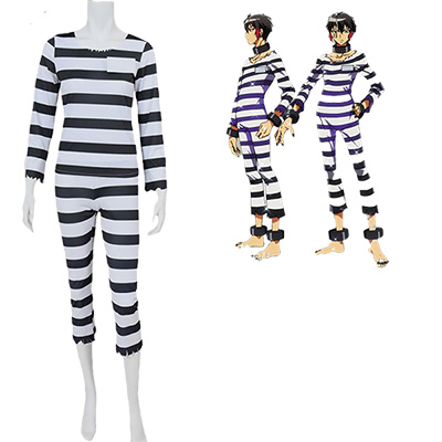 Nanbaka NO.15 Jyugo Jail Uniform Cosplay Kostym Manga