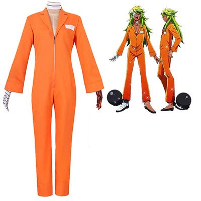 Nanbaka NO.25 Niko Rock Jail Uniform Cosplay Kostume Orange Anime