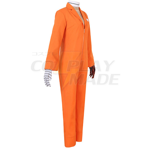 Disfraces Nanbaka NO.25 Niko Rock Jail Uniforme Cosplay Orange Anime