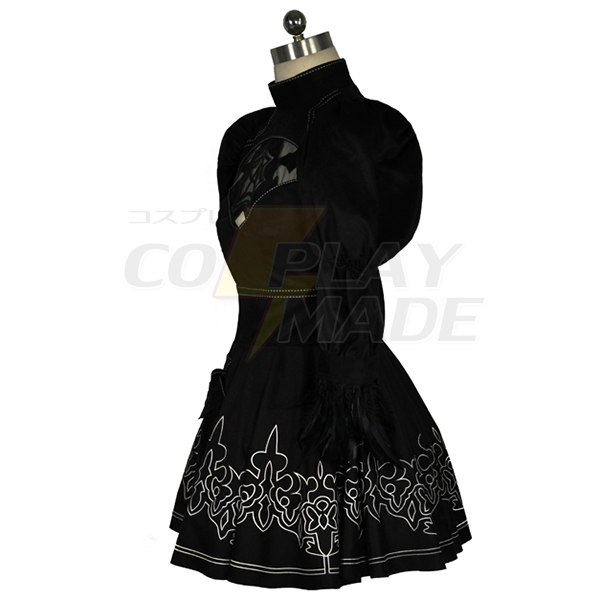 62dca2481a81 NieR Automata 2B Cosplay Kostym Cosplay Karneval : CosplayMade.se