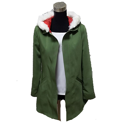 Noragami Yukine Olive Green Hooded Jacket Cosplay Costume Anime