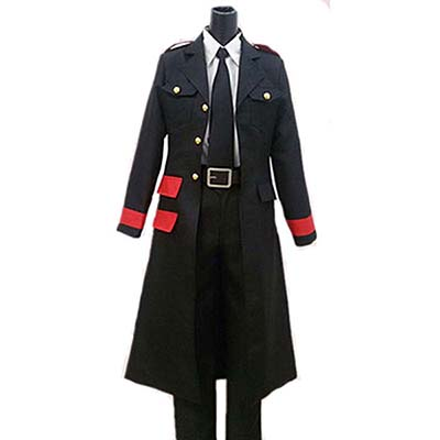 Noragami Bishamon Anime Cosplay Costume Coat+Shirt+Tie+Pants