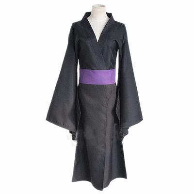 Noragami Iki Hiyori Noragami Yato Svart Kimono Yukata Cosplay Kostym