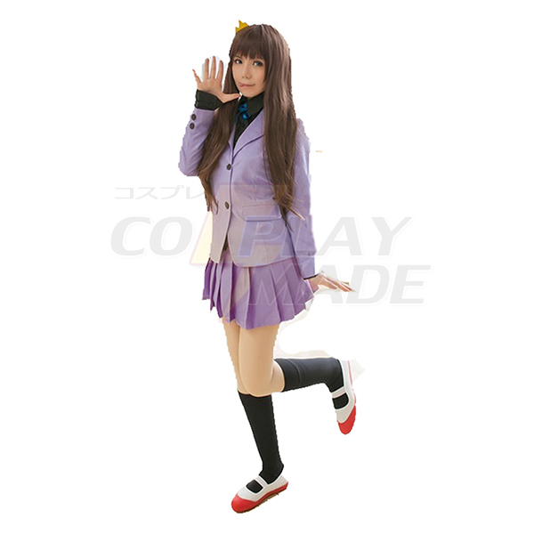 Noragami Iki Hiyori School Uniform Cosplay Costume top+skirt+shirt+tie