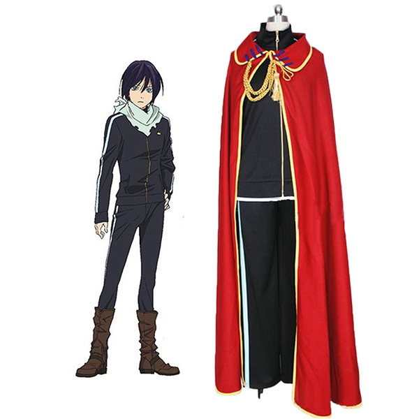 Noragami Yato Cosplay Costume with Cloak Custom Made