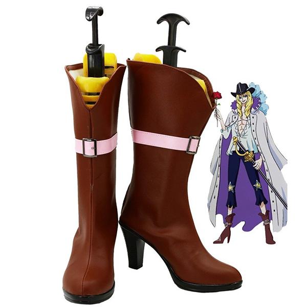 One Piece Anime Cavendish Cosplay Scarpe Stivali Carnevale