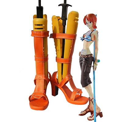 One Piece Anime Nami Cosplay Sapatos Chuteiras Carnaval