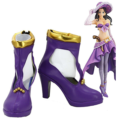 One Piece Anime Nico Robin Cosplay Shoes Boots Custom Made