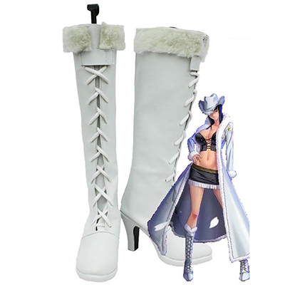 One Piece Anime Nico Robin Cosplay Shoes Boots White Custom Made